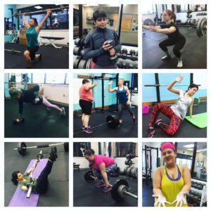 feminist gym member montage